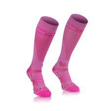 Compressport Socks-pink knee socks Full v2.1