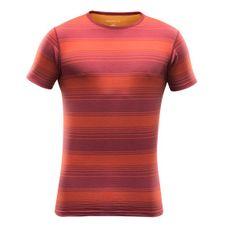 Devold Breeze Man T- Shirt - syrah stripe
