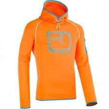 Ortovox Merino Fleece Logo Hoody Sweatshirt-Orange
