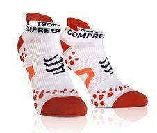 Compressport LO white/red socks Run v2.1