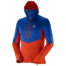 Men's fleece jacket Salomon Drifter Air Mid Hoodie M-matador