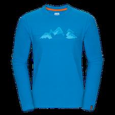 Zajo Bormio T-shirt LS - blue jewel mountains